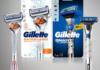 Gillette SkinGuard Sensitive und MACH3 Turbo jetzt mit beweglichem Klingenkopf